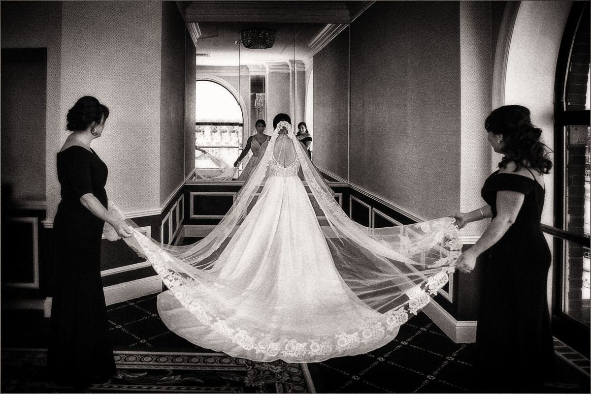 Bride at Providence Graduate Hotel. Wedding Photographers: Focus Photography