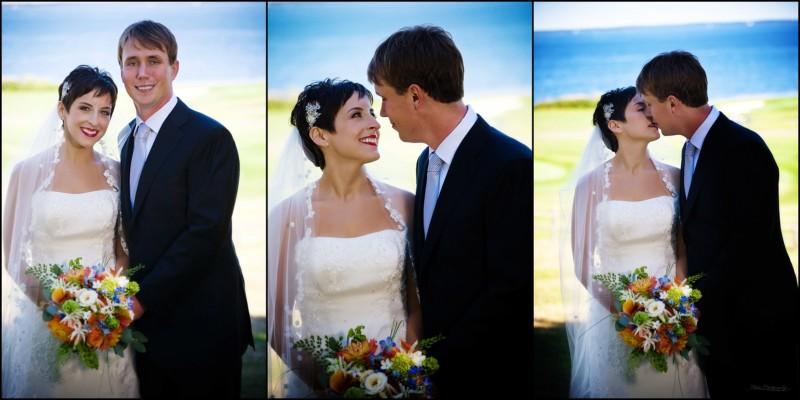 couple's wedding portraits at samoset