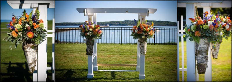 wedding alter with flowerss