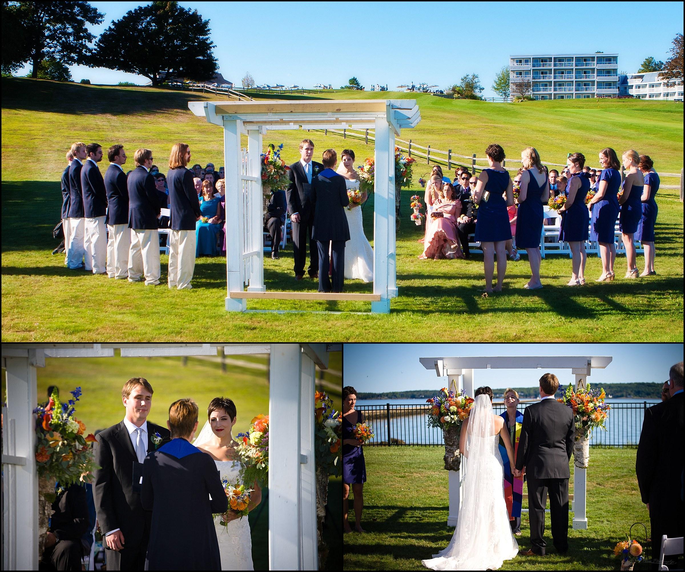 wedding ceremony at samoset
