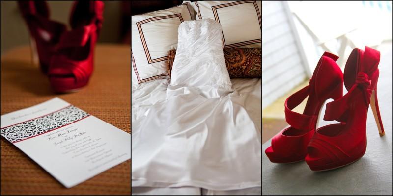 bride's accessories at samoset wedding