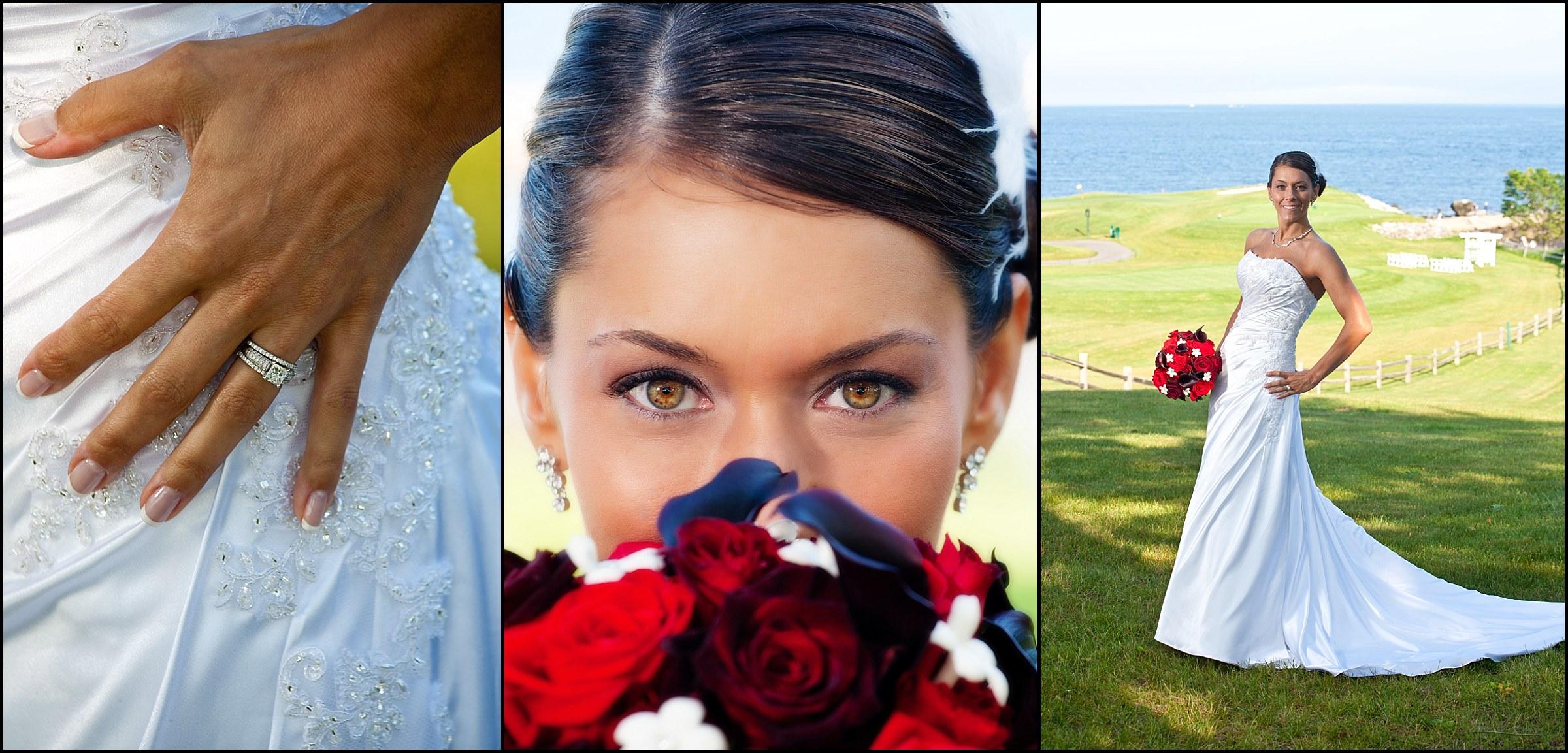 bride on golf course at samoset resort wedding