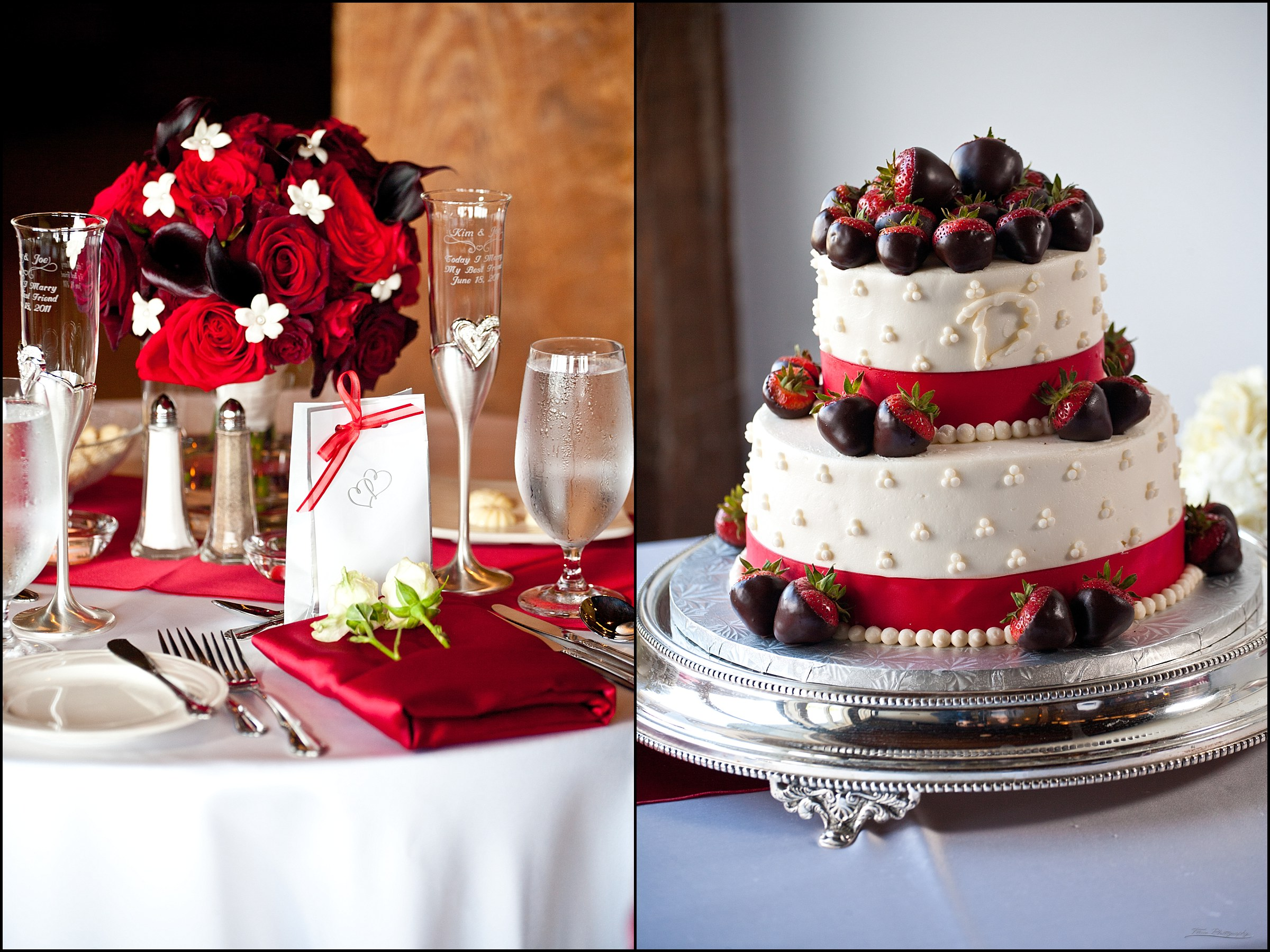 cake and table settings