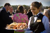 Wedding servers at the Nonantum Resort