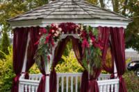 wedding photography of gazebo at inn on peaks island
