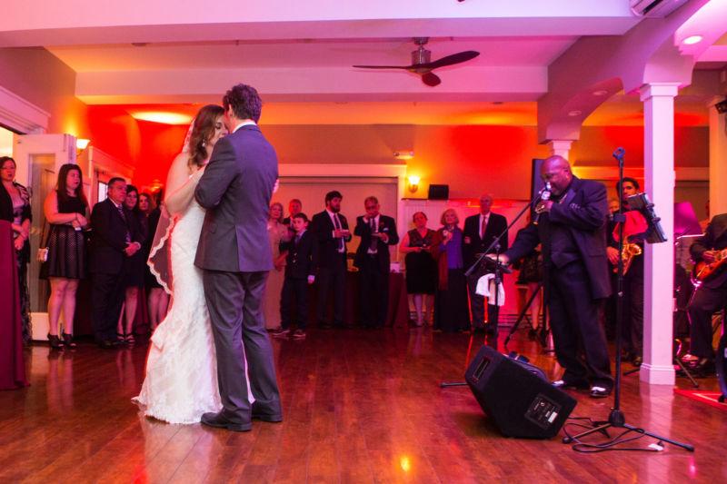 Ballroom dancing at inn on peaks island wedding