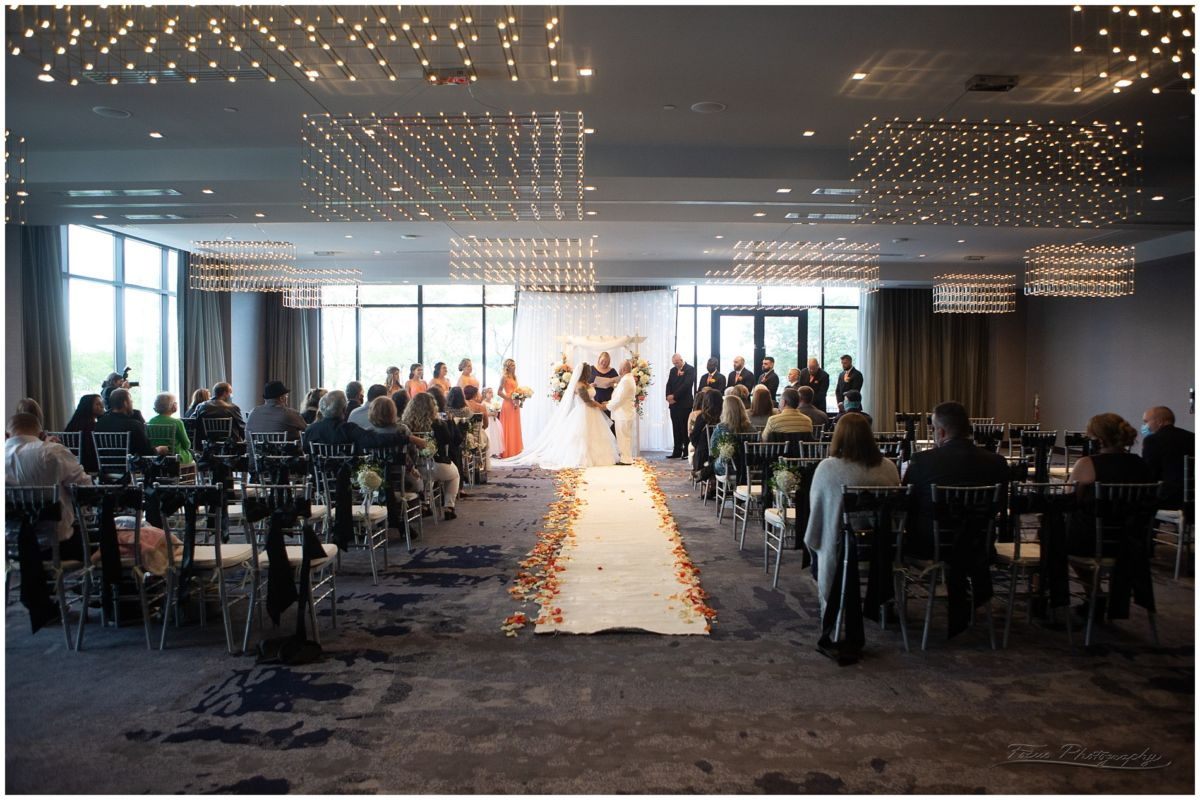 wedding ceremony at Envio at AC hotel in portsmouth, nh