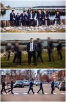 Nick and the Groomsmen.  My favorite is the shot in the middle with all the men except Nick in motion.