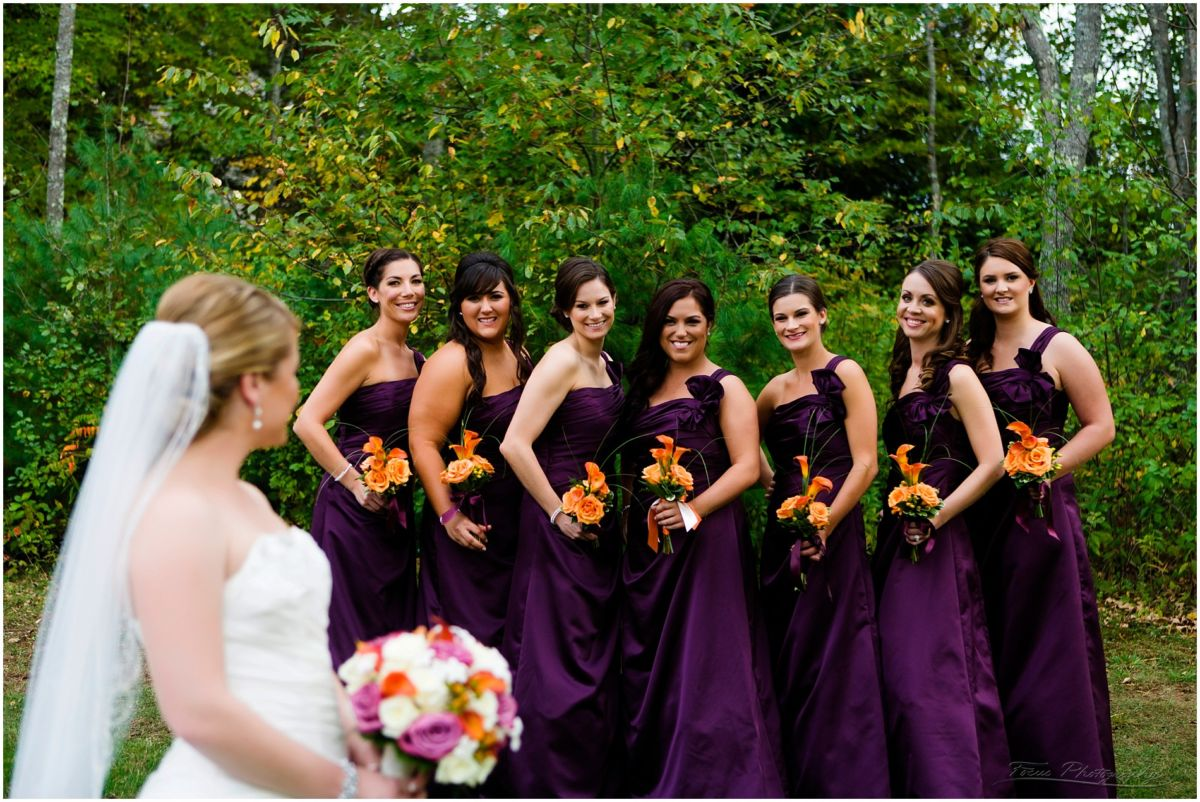 Wedding pictures from the Red Barn at Outlook Farm, Bridesmaids