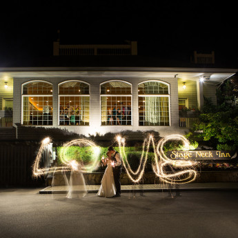 114 sparkler writing wedding couple