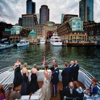 scene settings photo of boston wedding
