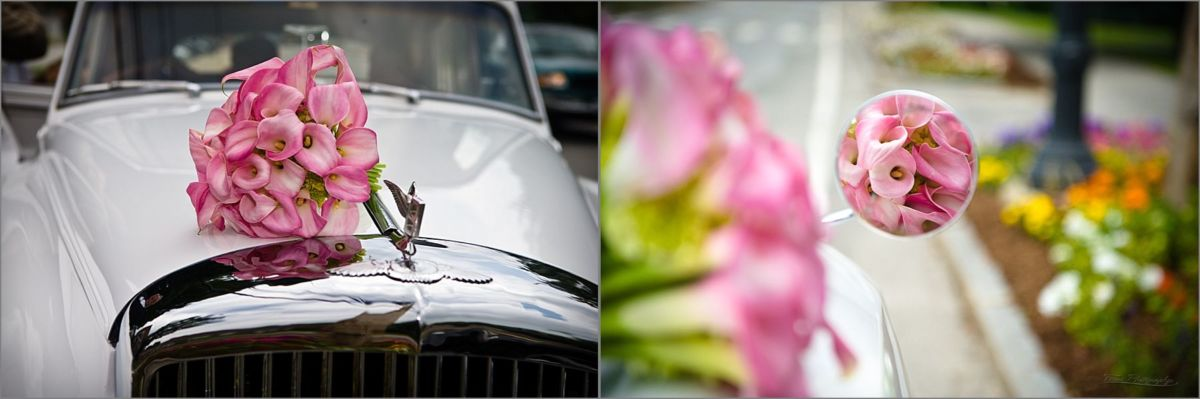Wentworth by the Sea Wedding Photography flowers on limo