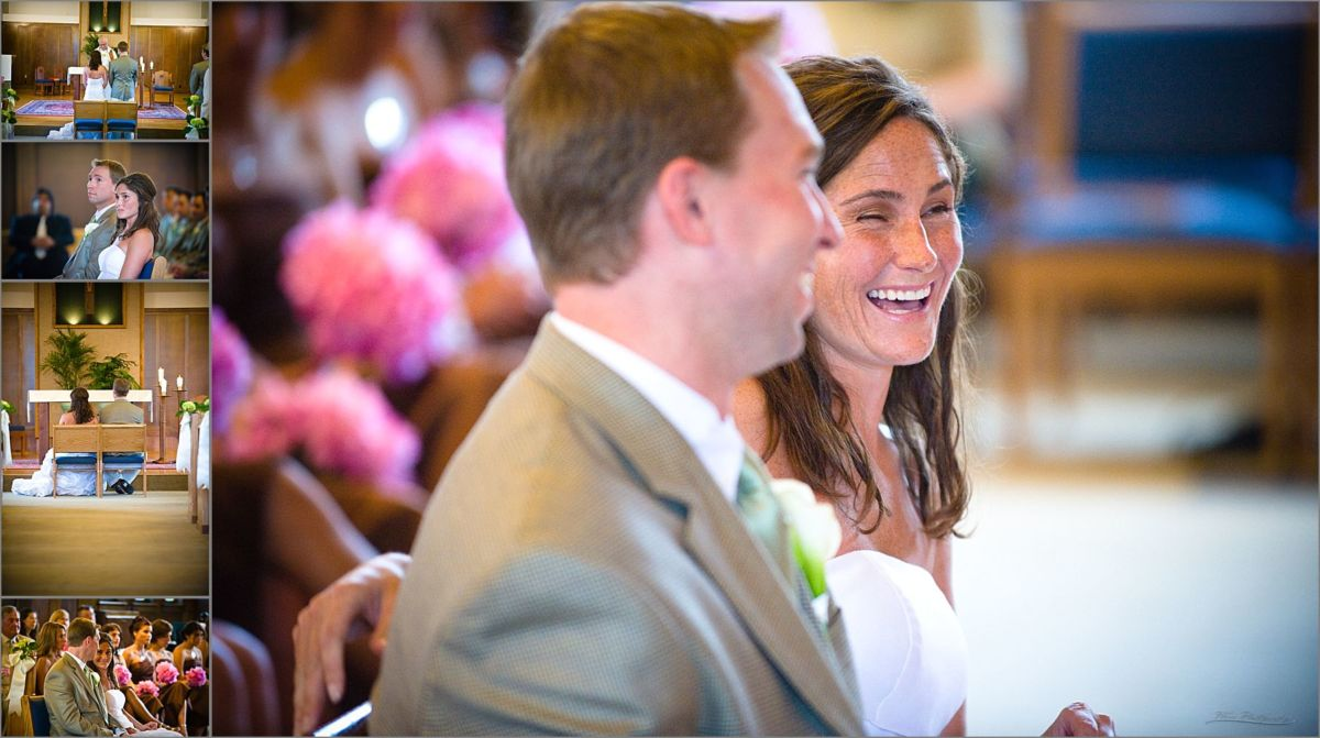 Wentworth by the Sea Wedding Photography couple laughing at church