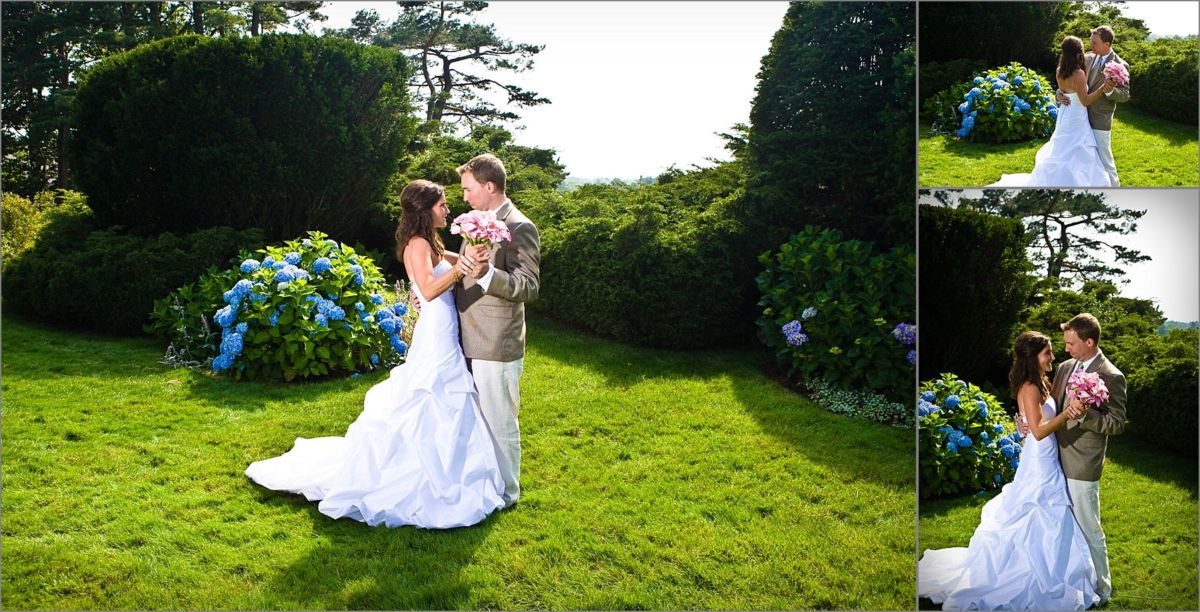 Wentworth by the Sea Wedding Photographers work with couple in gardens