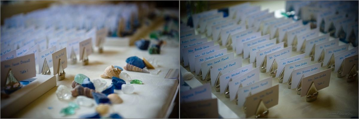 Wentworth by the Sea Wedding Photography of placecards