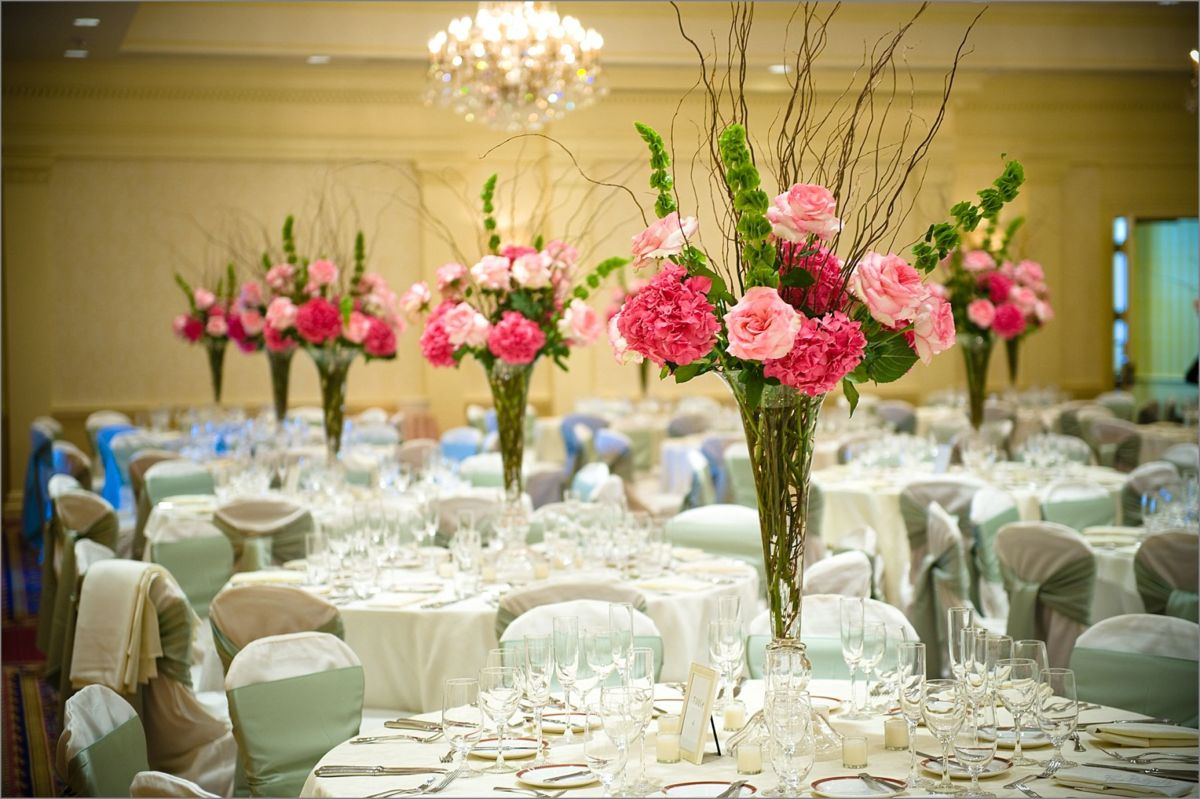 Wentworth by the Sea Wedding Photography ballroom and flowers