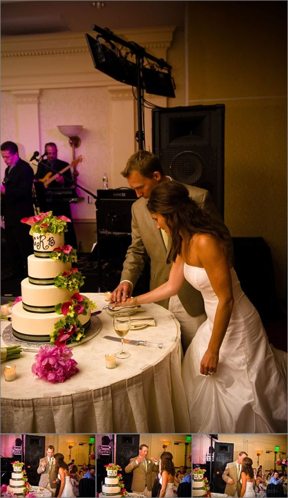 Wentworth by the Sea Wedding Photography cutting of cake