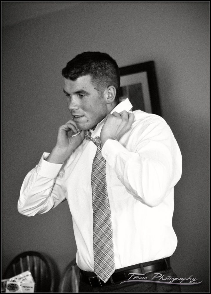 Tying the tie