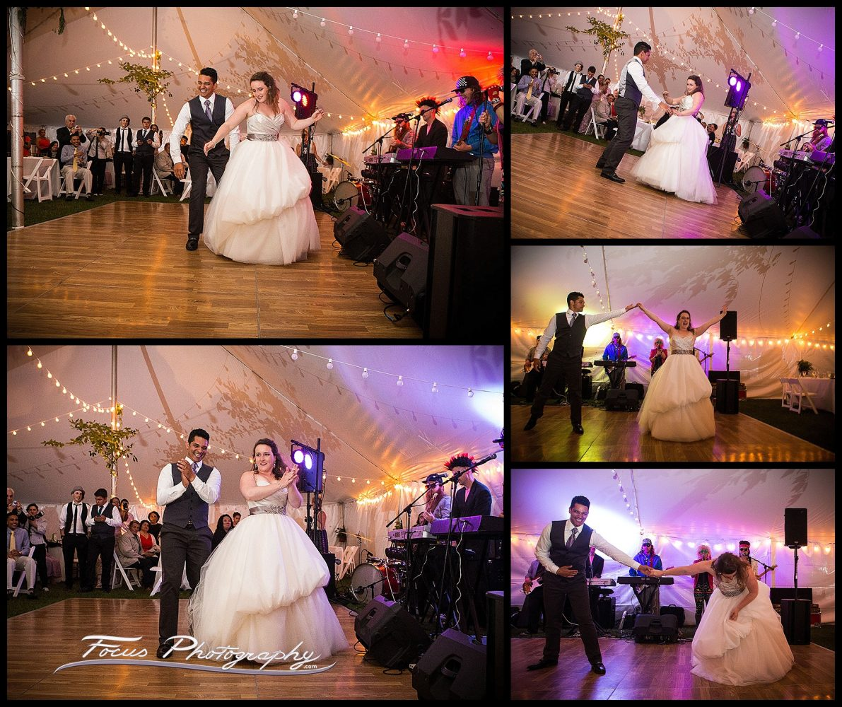 Dance pictures of bride and groom