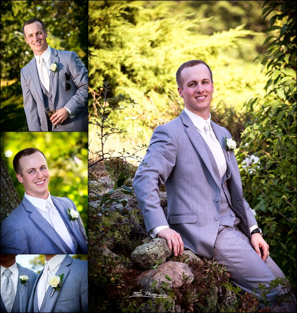 Groom at Wentworth by the Sea wedding in New Castle, NH