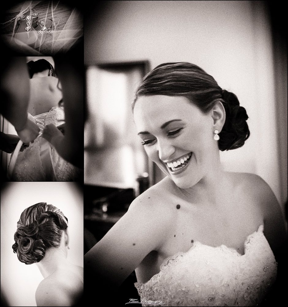 jessica (bride) getting ready for her wedding at Wentworth by sea