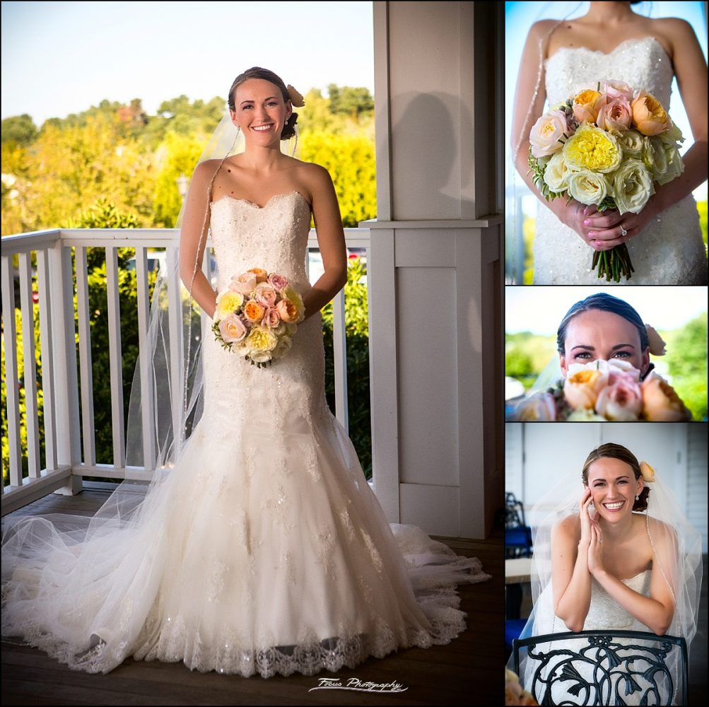 portraits of bride on her wedding day  at Wentworth by the Sea wedding in New Castle, NH