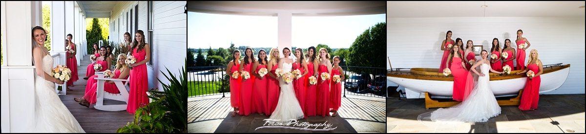 bridesmaids at Wentworth by the Sea wedding in New Castle, NH