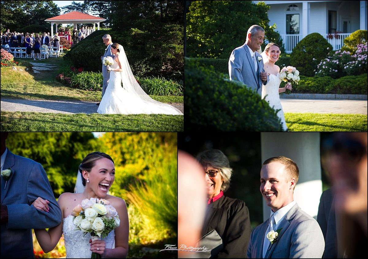 bride and father at wentworth wedding ceremony