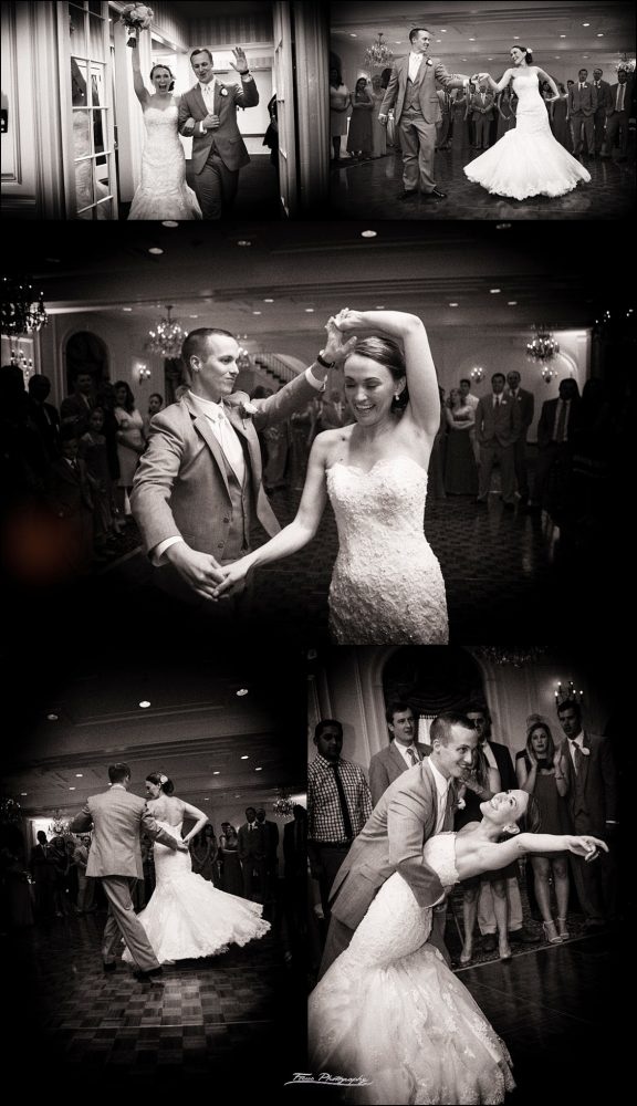 intros and first dance at Wentworth by the Sea wedding in New Castle, NH