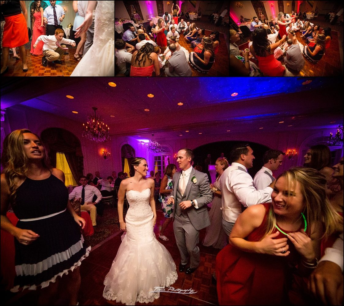 dance floor pictures at Wentworth by the Sea wedding in New Castle, NH
