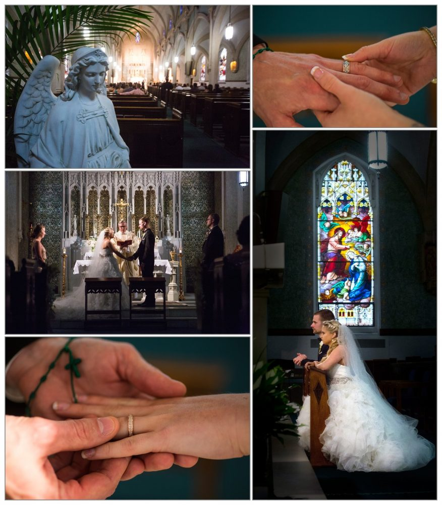 wedding photos from Cathedral of Immaculate Conception in Portsmouth