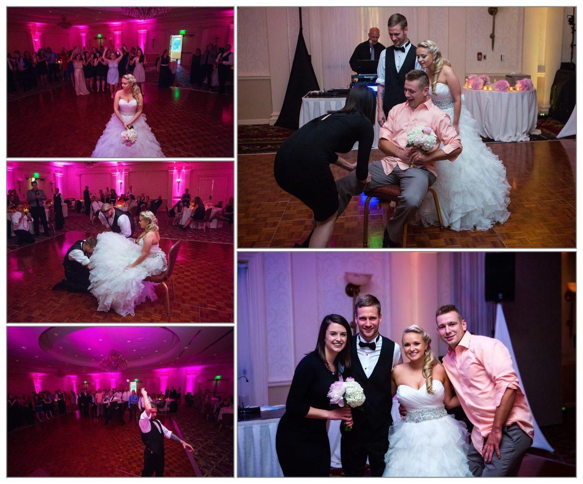 bouquet toss at wentworth wedding