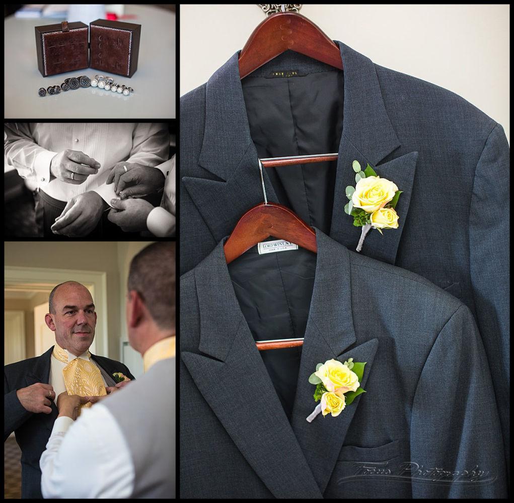 wedding details of mens' tuxedos