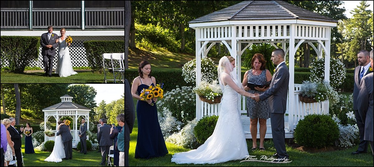 ceremony at Dunegrass wedding | Old Orchard Beach, Maine