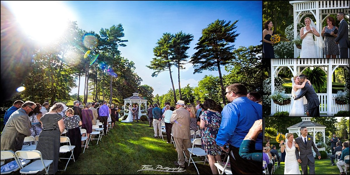 ceremony shot at Dunegrass golf club wedding