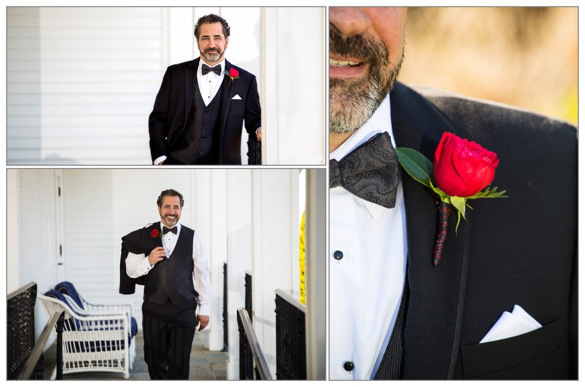 groom at Wentworth by the Sea wedding