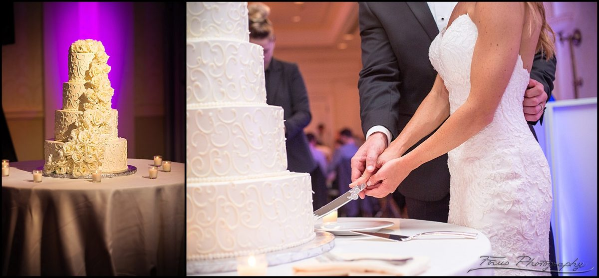 Cake by Jaques at Wentworth by the Sea wedding