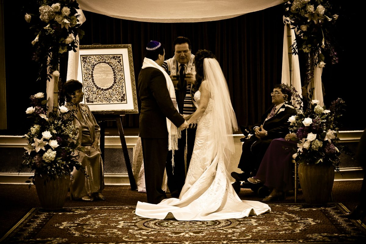 Jewish wedding ceremony at Wentworth by the Sea