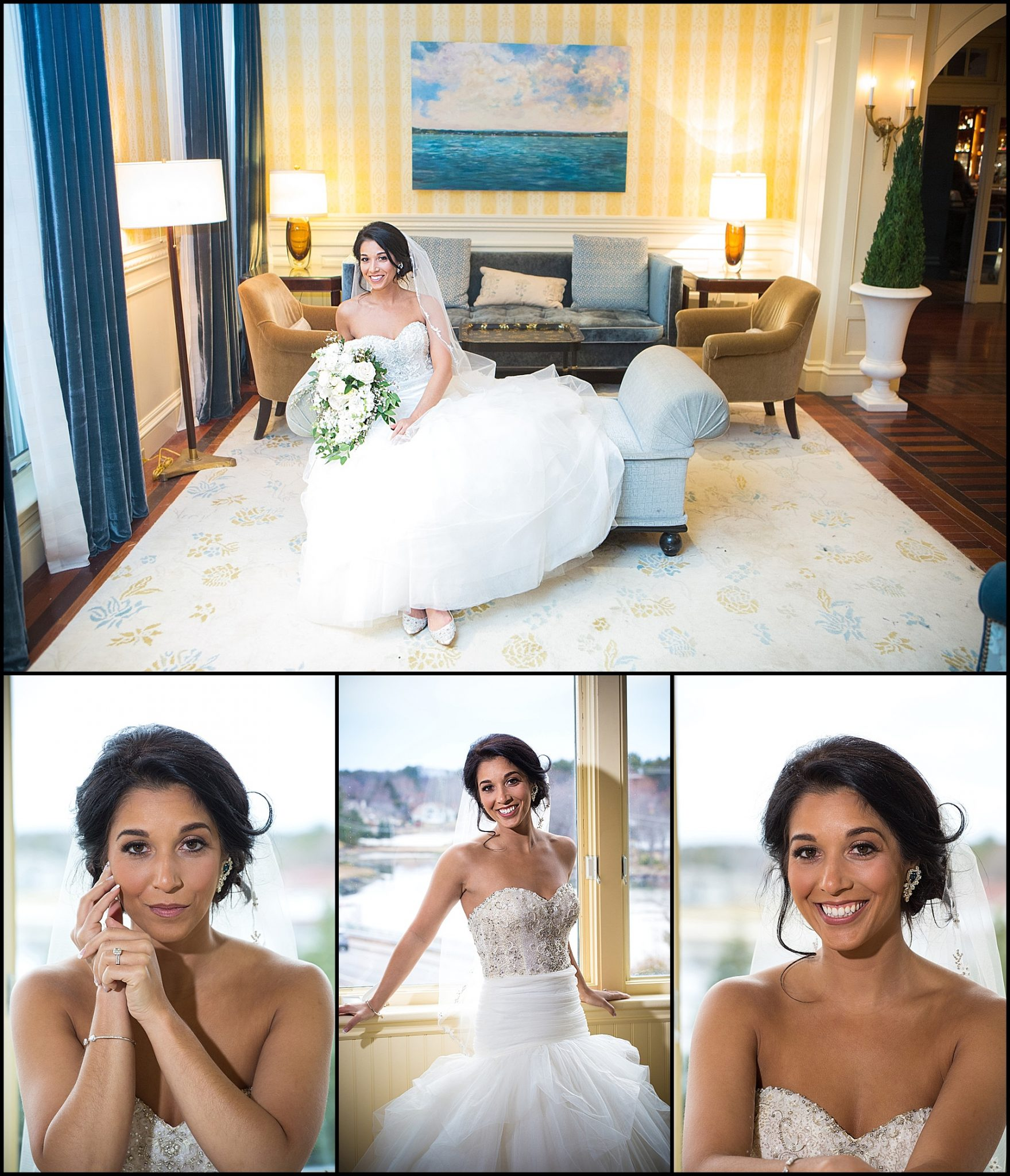 bride in the hotel for portraits