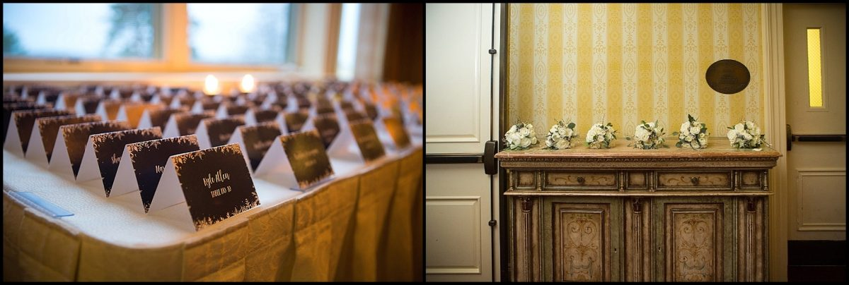 placecards and flowers