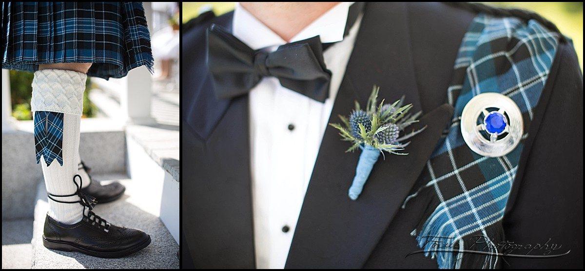 details of groom in kilt