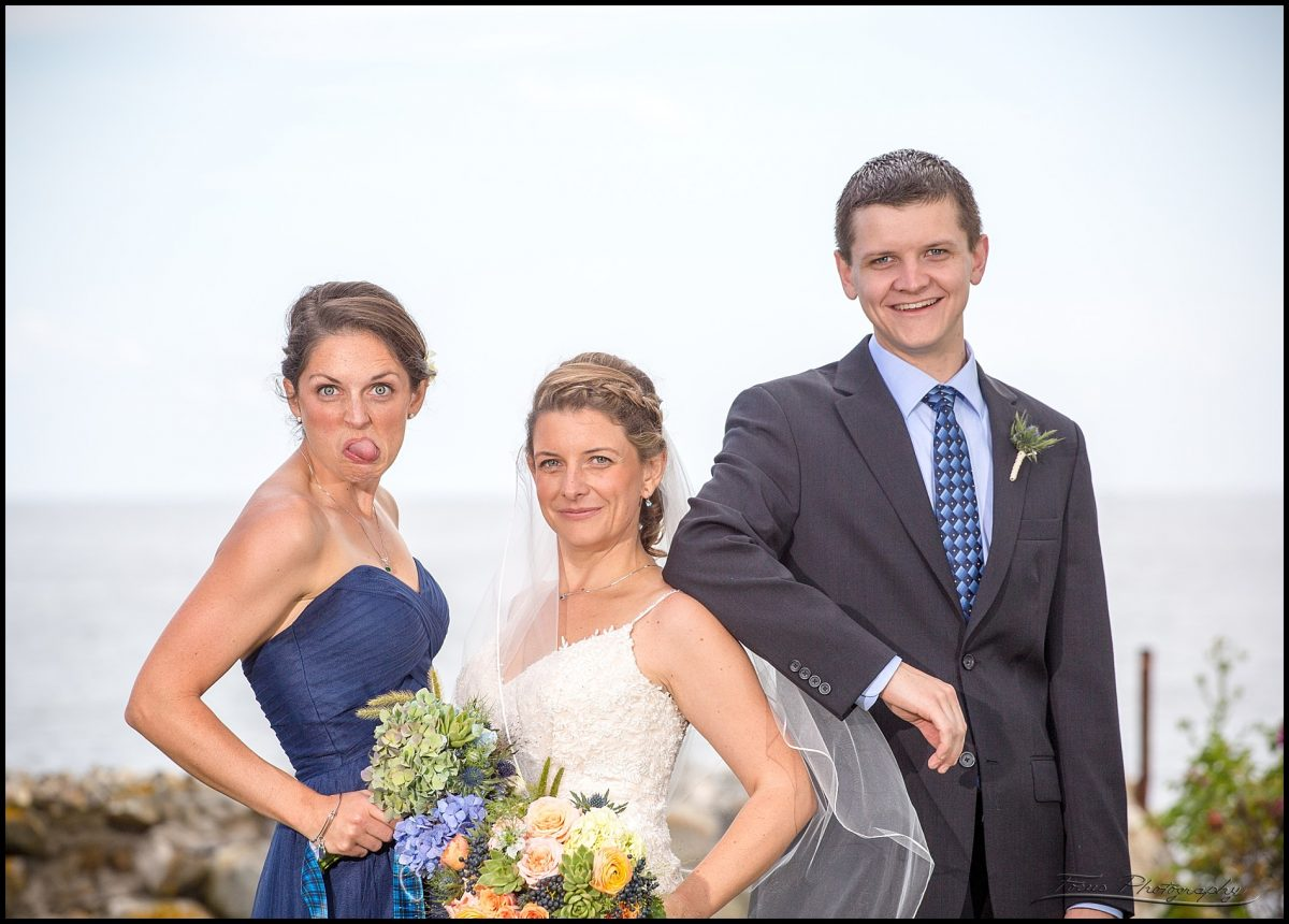 The bride and her siblings