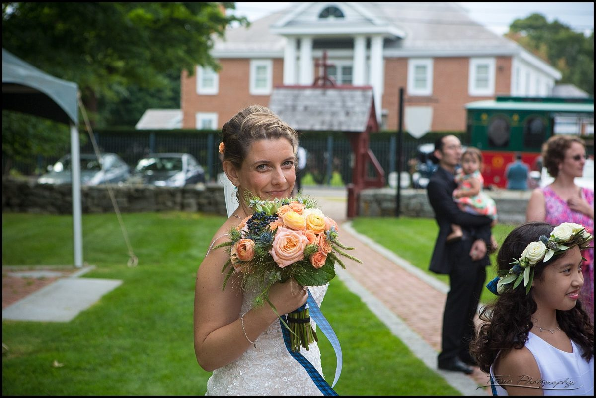 bride outside ceremony