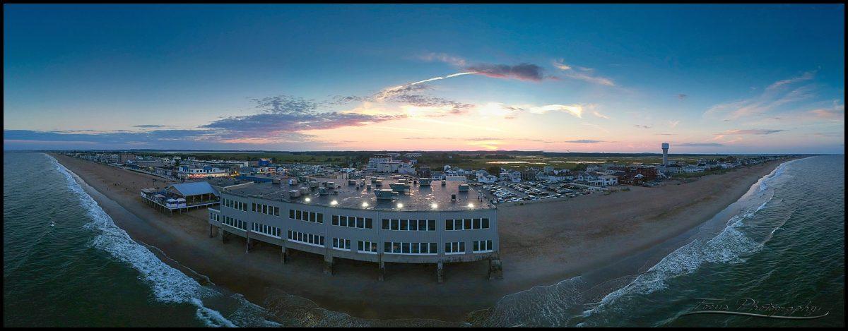 Blue Ocean Events Center at sunset
