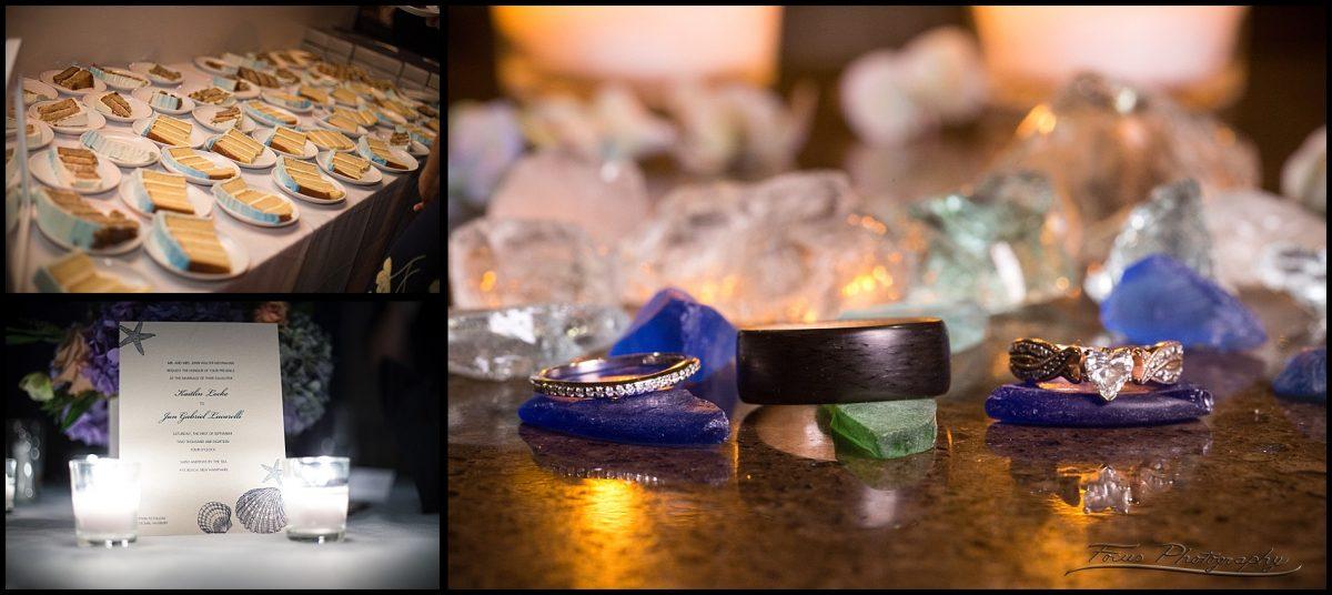 wedding rings at blue ocean events wedding
