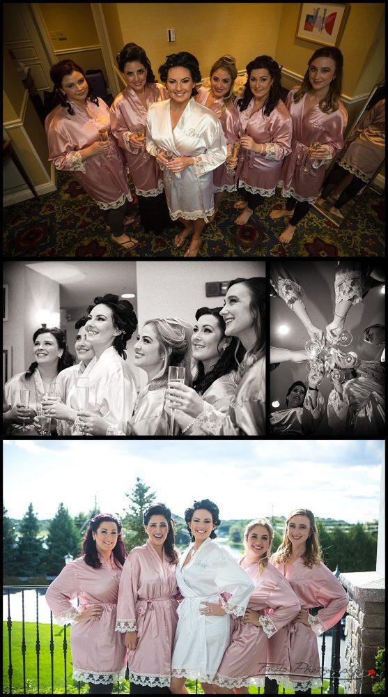 Bridesmaids before dressing