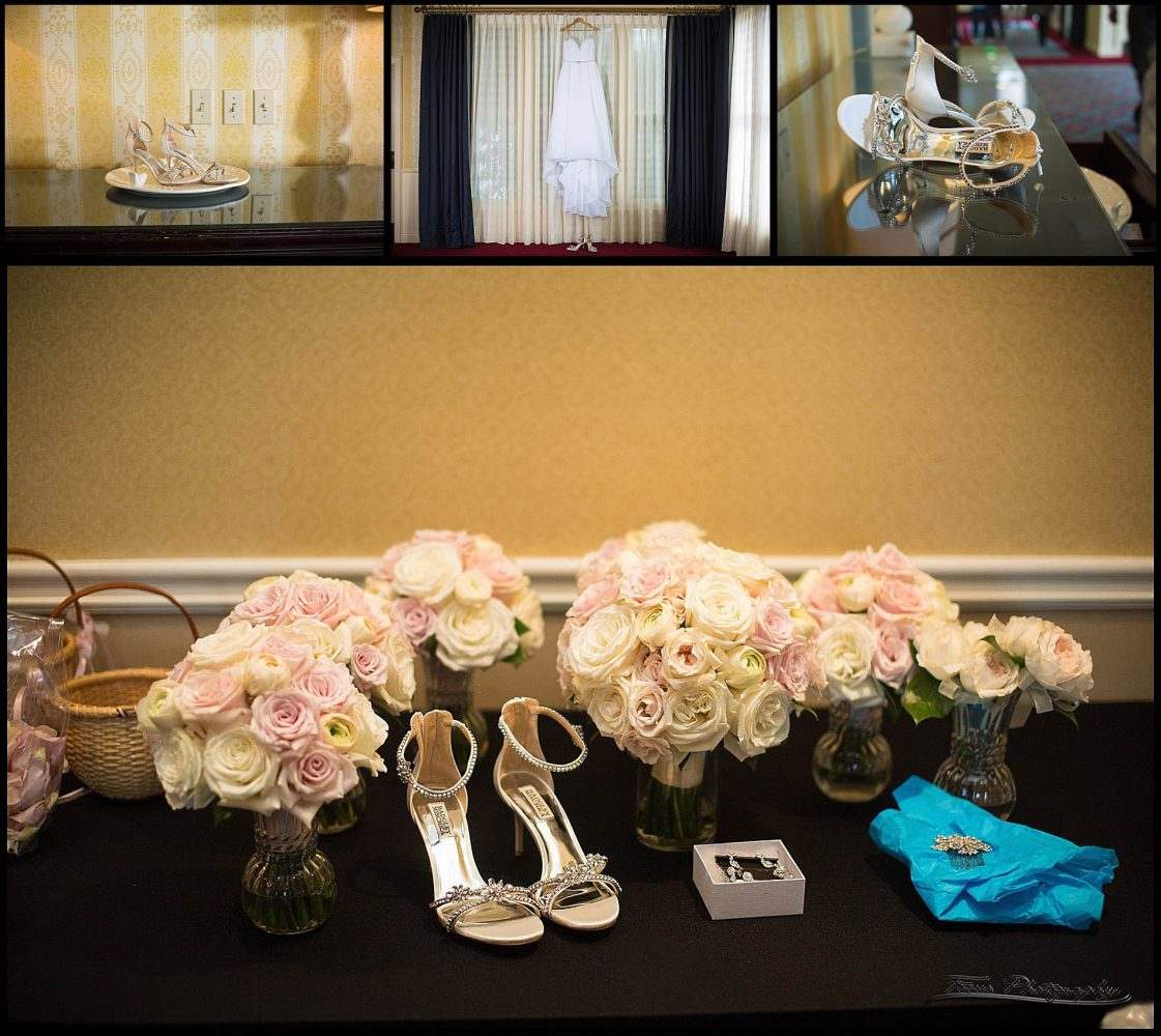 shoes, flowers, and rings