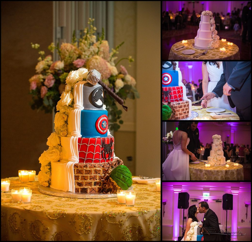 two faced wedding cake