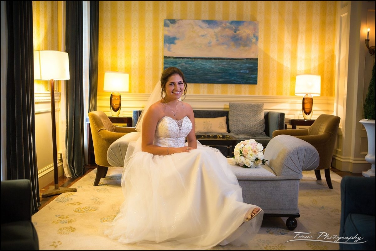 Wentworth by the Sea Wedding pictures  - Sam in front lobby