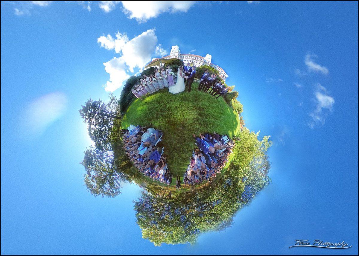 Sam & Steve's Wentworth Wedding - little planet